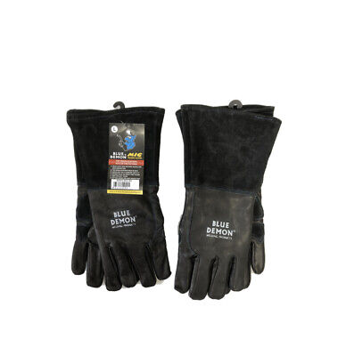 MIG Welding Gloves (2 Pairs) Premium Heavy Duty Blue Demon Free Shipping