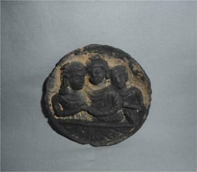Antique Pakistan TOP STONE GANDHARA EARLY BUDDHIST MEDALLION COSMETIC PALETTE