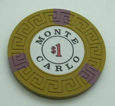 Monte Carlo Casino Reno NV $1 Cancelled Chip 1978