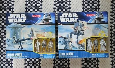 Star Wars Target Exclusive Attack On Hoth Defense Of Hoth Set W/ Figures New