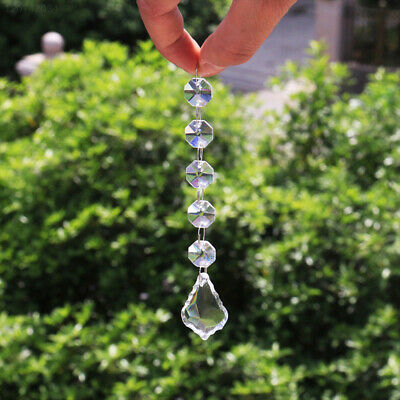 D678 Transparent Hanging Crystal Curtain Pendants Wedding Durable Rainbow Prism