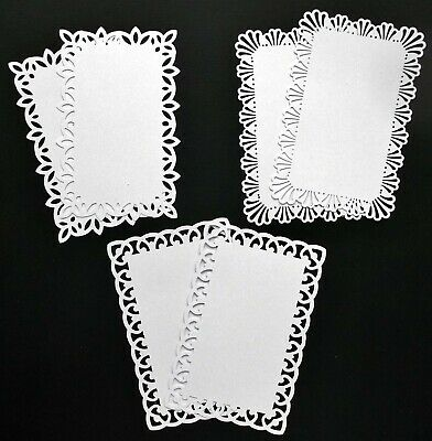 Fancy Edge Smooth White Card Toppers X 6 - Add A Special Touch To Your Cards