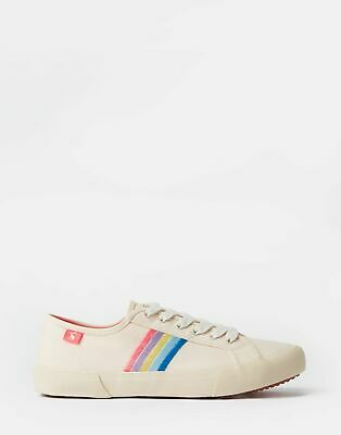 Joules Womens Coast Canvas Trainers in RAINBOW