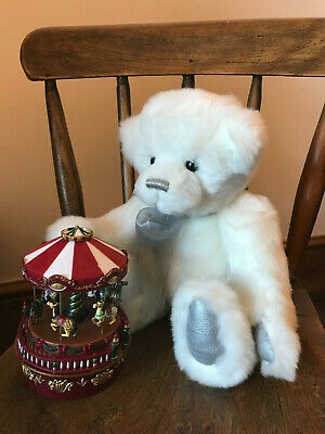 Charlie Bear 2015 ~Cute Cuddly SNOWBALL~ Real Little Charmer Needs Lots Of HUGS!