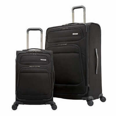 new Samsonite Epsilon NXT 2-Piece Softside Travel Luggage Spinner Set Black