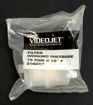 New - Videojet 204667 Filter Working Pressure 75Psi *Warranty & Free Ship*