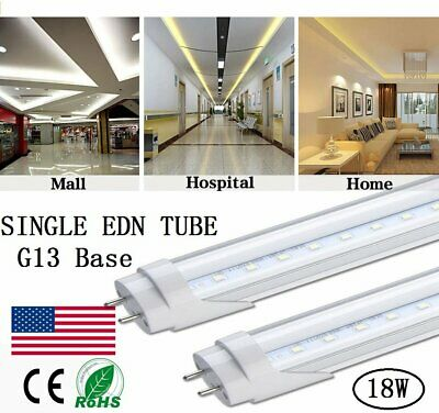 Single Ended Power 48inch 4ft 18W LED Replacement Fluorescent Light Bulb T8 G13