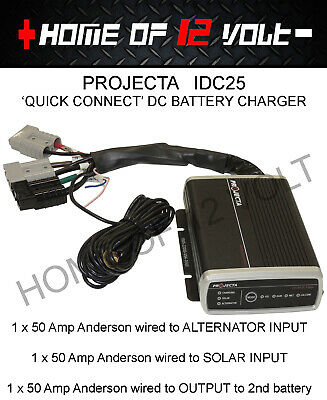 DC Battery Charger vehicle Solar 25 Amp Projecta