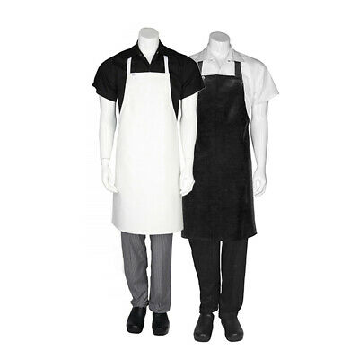 PVC Apron Chefworks Hospitality Wet Work Butcher Protect Plastic Black OR White