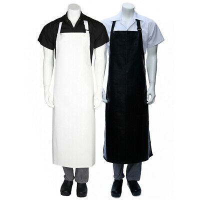 PVC Apron Long Chefworks Hospitality Wet Work Protective Plastic White OR Black