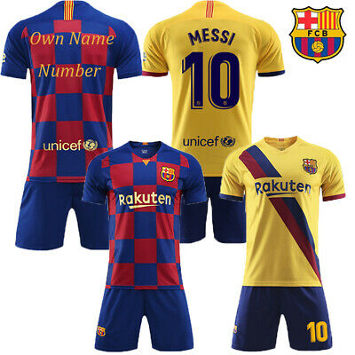 New 19/20 Kids Boys Football Full Kit Youth Jersey Strips Soccer Sports Outfit