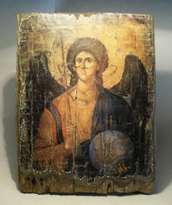 Handmade copy ancient ORTHODOX CHURCH ICON St Michael the Archangel Михаил 174S