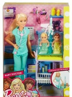 Mattel Barbie Baby Doctor Playset Brand New Fast Postage