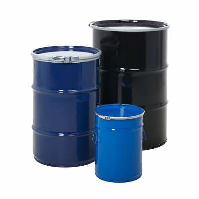 Open Top Steel Storage Barrel / Drums - 3 Sizes Available  25L, 110L, 205L