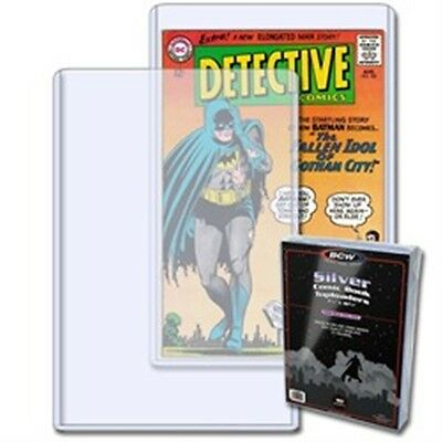 1 Pack of 10 BCW Silver Age Comic Book Storage Topload Holders Display Protect