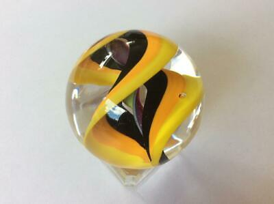 LIMITED EDITION MARBLE RUNIC # 40 / 250  001076 40mm by Teign Valley Glass