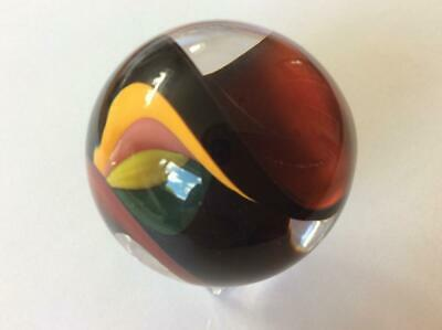 LIMITED EDITION  MARBLE FAUNUS # 54/ 250 001128 40mm by Teign Valley Glass