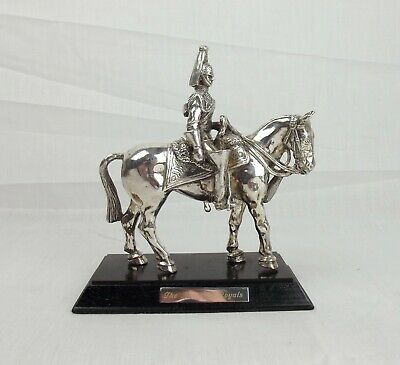 Silver Plated Blues & Royals Horseguard Figure
