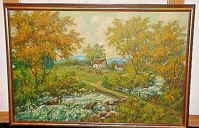 OIL PAINTING-LISTED ARTIST Robert Wood-Rocky Mts  Landscape