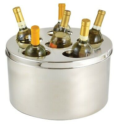 6 Point Doublewall Insulated Wine Beverage Cooler With Lid