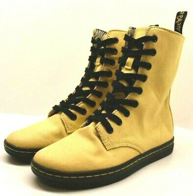 Dr.Air Wair Martens Women's Boot Yellow/Black Size US 6 FREE SHIPPING BRAND NEW