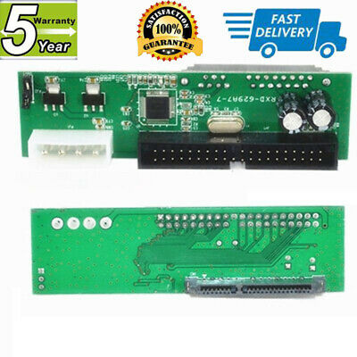 PATA IDE TO SATA Converter Adapter Plug&Play 7+15 Pin 3.5 HDD Parallel to Serial