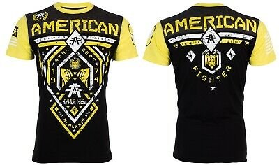 American Fighter Short Sleeve T-Shirt Mens FAIRBANKS Black Yellow S-3XL NWT
