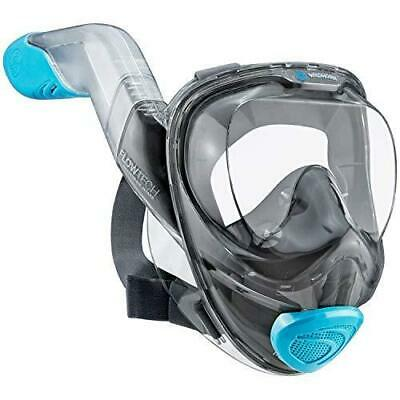 WildHorn Outfitters Seaview 180° V2 Large Sky Panoramic Full Face Snorkel Mask