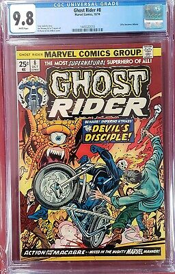 Ghost Rider #8 cgc 9.8  White Pages  ghostrider