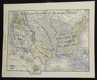 United States Territorial Map from 1783-1898