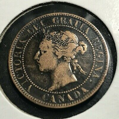 1895 Canada One Cent Nice Grade Large Penny Coin