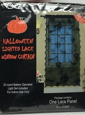 spooky Lighted Lace Curtain halloween Decoration and more