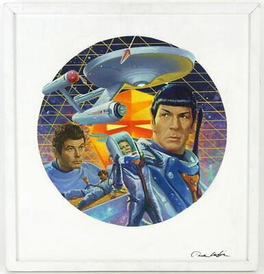 """Star Trek """"The Tholian Web"""" Oil Painting for Hamilton Sketches & Signed Plate"""