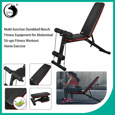 U'King Foldable Heavy Duty Dumbbell Bench Flat Incline Decline Fitness Exercise