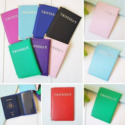 Passport Cover Travel Case Holder Wallet Organiser Protector PU Leather Bag New