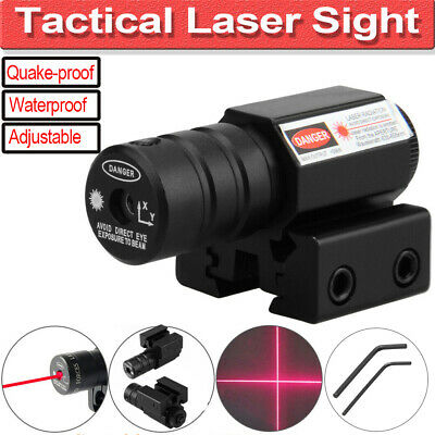 ❤Tactical Red Laser Dot Sight Scope with Mount For Gun Rifle Pistol Air Soft Hot