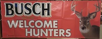 Busch Welcome Hunters Banner 3ft X 8ft