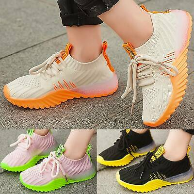 Toddler Girl Boys Mesh Shoes Sport Running Non Slip Lace Up Lightweight Sneakers