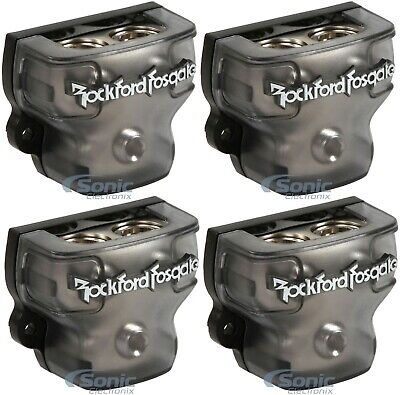 4) ROCKFORD FOSGATE RFD1 0/1/4-Gauge Ga Car Power Distribution Blocks 1-In 2-Out