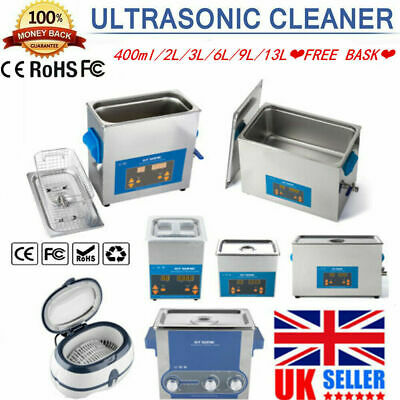 2 L-3 L Ultrasonic Cleaner Stainless Ultra Sonic Bath Cleaning Tank Timer GIFT