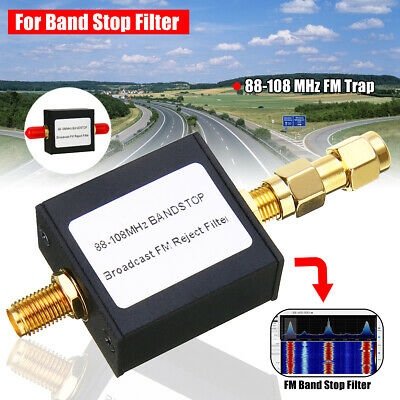 Broadcast FM Band Stop Filter (88-108 MHz FM Trap) by RTL-SDR Blog w/SMA Adapter