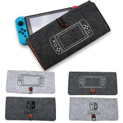 Portable Travel Bag Carrying Case Felt Pouch Storage Bag for Nintendo Switch