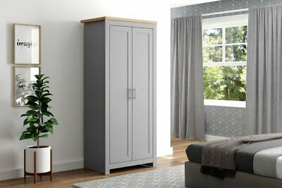 Birlea - Winchester 2 Door Wardrobe - Cream - Grey - Navy - Flat Packed
