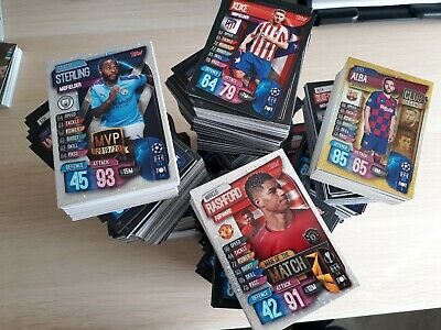 Match Attax 2019/20 19/20 bundle job lot ALL DIFFERENT 50-200 card bundles