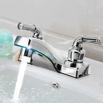 RV/Mobile Home Bathroom Vanity Sink Lavatory Faucet Hot & Cold Water Mixer Taps