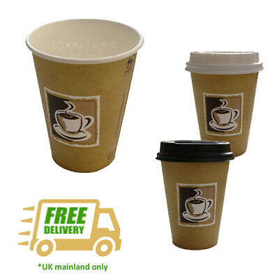 Benders 12oz/34cl Single Wall Hot Cup Caffe Design Disposable Coffee Takeaway