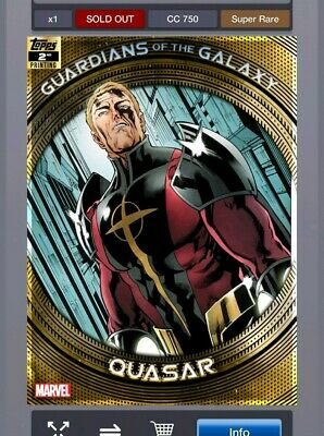 Topps Marvel Collect Guardians of the Galaxy -  2nd Printing - Quasar - 750cc
