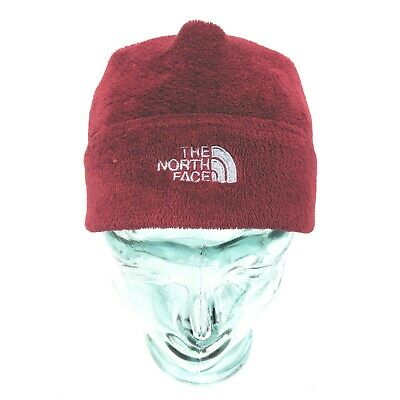 North Face Beanie Fleece Hat Mens Womens One Size Fits Most Burgundy
