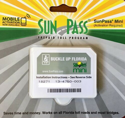 SunPass Mini Sticker Pre-Paid Toll Program For Florida Only  New!!!!