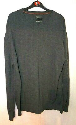 Howick House Of Fraser Charcoal Grey Long Sleeve 100% Wool Jumper Uk Xl